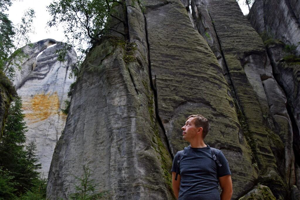 Czechy skalne miasto Adrspach, Adrspachskie skały Dawid Białowąs