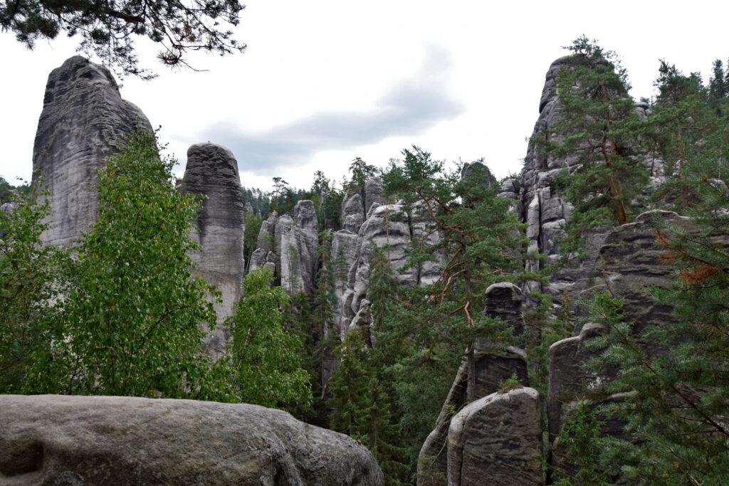 Adrspach Wielka Panorama skalne miasto