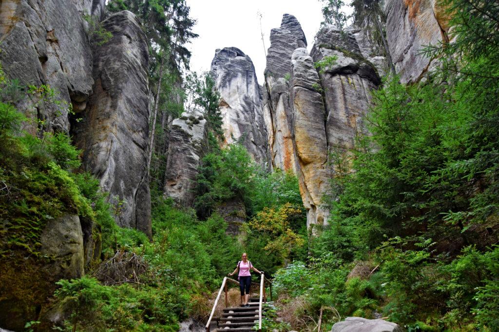 skalne miasto Adrspach, Adrspachskie skały